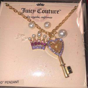 Juicy Couture Heart & Key Pendant